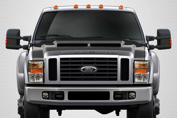 Carbon Creations (112329) 2008-2010 Ford Super Duty F250 F350 F450 Carbon Creations CV-X Hood - 1 Piece