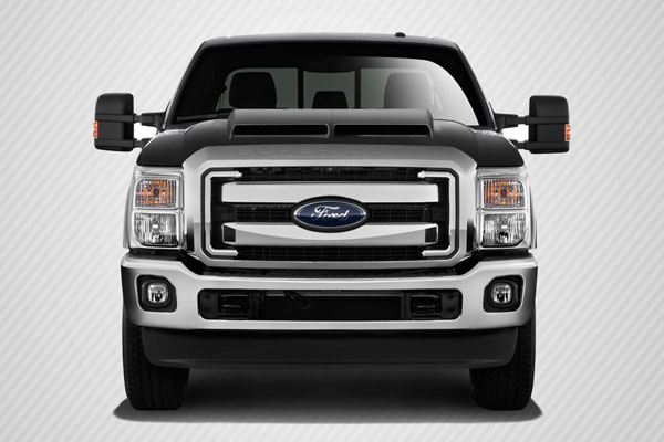 Carbon Creations 112330: 2011-2015 Ford Super Duty F250 F350 F450 Carbon Creations GT500 Hood - 1 Piece