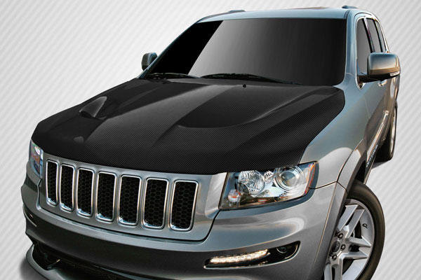 Carbon Creations 112331: 2011-2014 Jeep Grand Cherokee  SRT8 Look Hood - 1 Piece