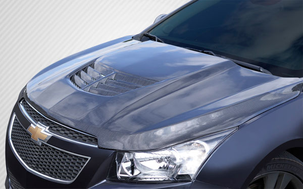 Carbon Creations 112408 | Chevrolet Cruze Carbon Creations Stingray Z Hood- 1-Piece; 2011-2015