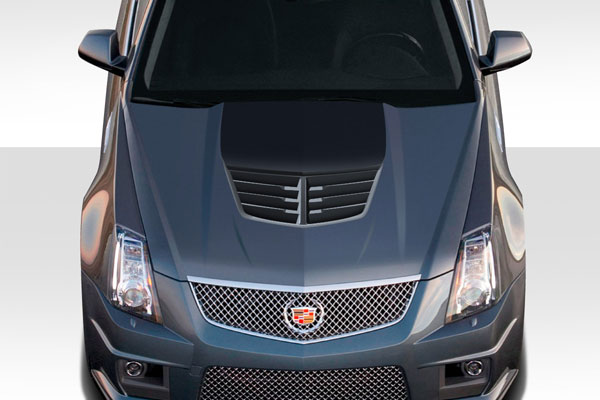 Carbon Creations 113154: 2008-2013 Cadillac CTS-V Carbon Creations DriTech Stingray Z Hood- 1 Piece