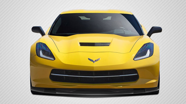 Carbon Creations 113158: 2014-2016 Chevrolet Corvette C7  DriTech Thunderbolt Front Lip Under Air Dam Spoiler - 1 Piece