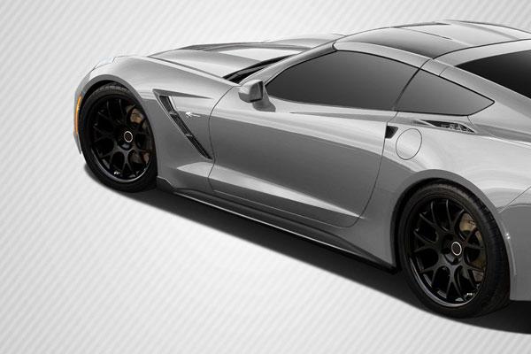 Carbon Creations 112435   2014-2016 Chevrolet Corvette C7 Carbon Creations GT Concept Side Splitters - 2 Piece