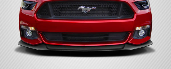 Carbon Creations 112444 | Ford Mustang Carbon Creations Performance Look Front Lip Spoiler 1-Piece; 2015-2016
