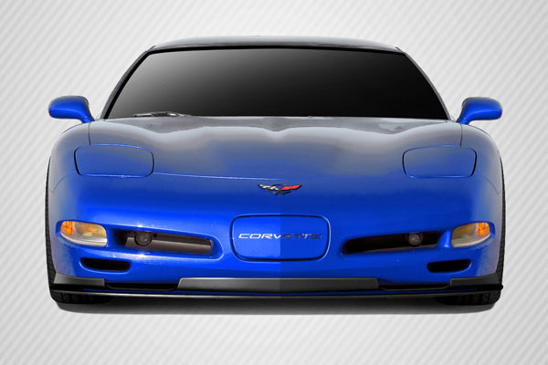 Carbon Creations 113163: 1997-2004 Chevrolet Corvette Carbon Creations DriTech ZR1 Look Front Lip Splitter - 1 Piece