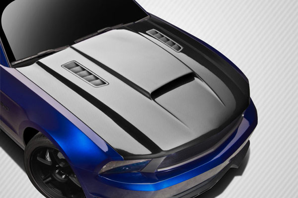 Carbon Creations 112477 | Ford Mustang Carbon Creations CV-X Version 3 Hood 1-Piece; 2010-2012