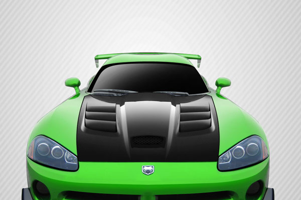 Carbon Creations 112479: 2003-2009 Dodge Viper Carbon Creations ACR Look Hood - 1 Piece