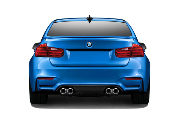 Couture (112506) 2012-2016 BMW 3 Series F30 Couture M3 Look Rear Bumper (requires diffuser and change to M3 M4 Look exhaust ) - 1 Piece