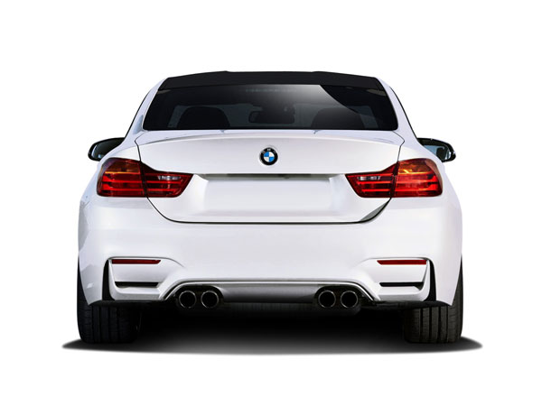 Couture 112517: 2014-2016 BMW 4 Series F32 Couture M4 Look Rear Bumper (requires diffuser and change to M3 M4 Look exhaust ) - 1 Piece