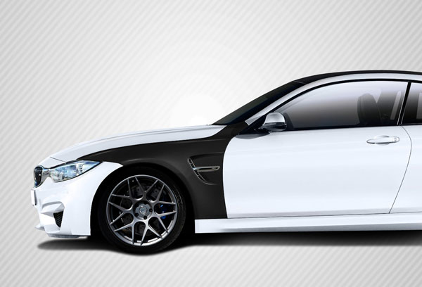 Carbon Creations 113175: 2014-2016 BMW 4 Series F32  DriTech M4 Look Front Fenders - 4 Piece