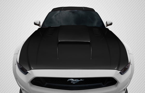 Carbon Creations 112582 | Ford Mustang Carbon Creations CVX Hood 1-Piece; 2015-2016