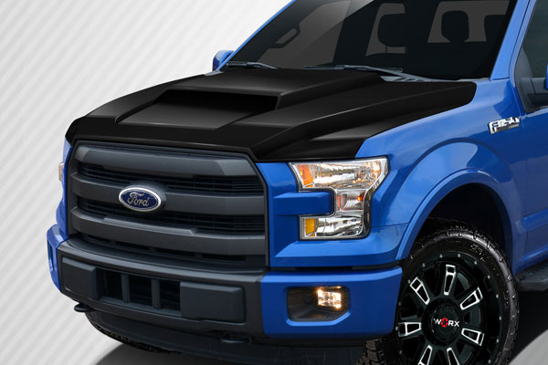 Carbon Creations 112584 | Ford F150 Carbon Creations Grid Hood 1-Piece; 2015-2016