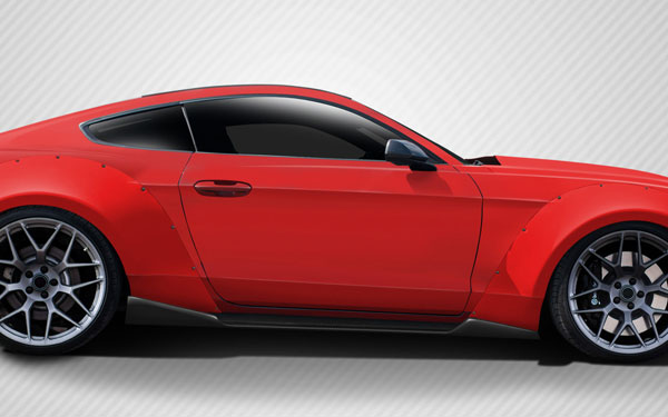 Carbon Creations 112585: 2015-2016 Ford Mustang  Grid Side Skirts Rocker Panels - 2 Piece