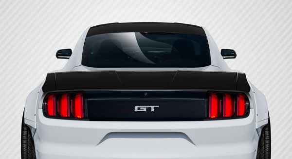 Carbon Creations 112586 | Ford Mustang Carbon Creations Grid Rear Wing Spoiler 3-Piece; 2015-2016