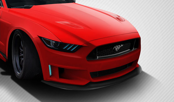 Carbon Creations 112587 | Ford Mustang Carbon Creations Grid Front Lip Spoiler 1-Piece; 2015-2016