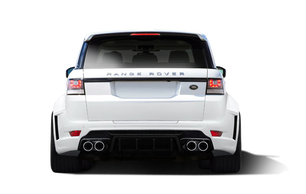 Aero Function 112678: 2014-2015 Land Rover Range Rover Sport AF-2 Wide Body Rear Bumper ( PUR-RIM ) - 1 Piece