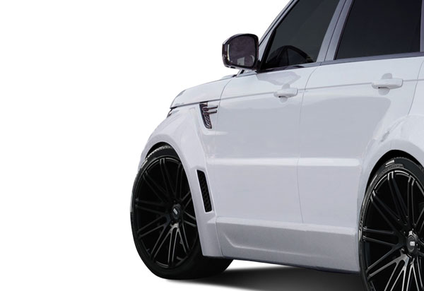 Aero Function (112679)  2014-2015 Land Rover Range Rover Sport AF-2 Wide Body Front Fender Flares ( PUR-RIM ) - 4 Piece