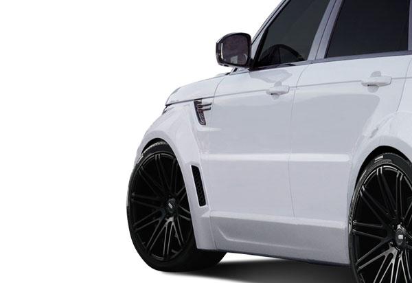 Aero Function 112679 |  Land Rover Range Rover Sport AF-2 Wide Body Front Fender Flares ( PUR-RIM ) 4-Piece; 2014-2015