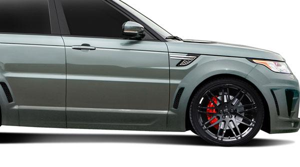 Aero Function 112681 |  Land Rover Range Rover Sport AF-2 Wide Body Front Door Caps ( PUR-RIM ) 2-Piece; 2014-2015