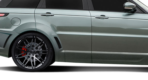 Aero Function 112682 |  Land Rover Range Rover Sport AF-2 Wide Body Rear Door Caps ( PUR-RIM ) 2-Piece; 2014-2015