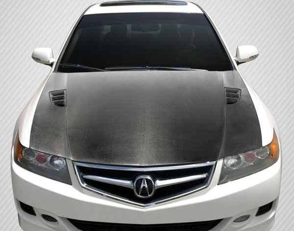 Carbon Creations 112941 | Carbon Creations Acura TSX Carbon Creations DriTech R-Spec Hood 1-Piece; 2006-2008