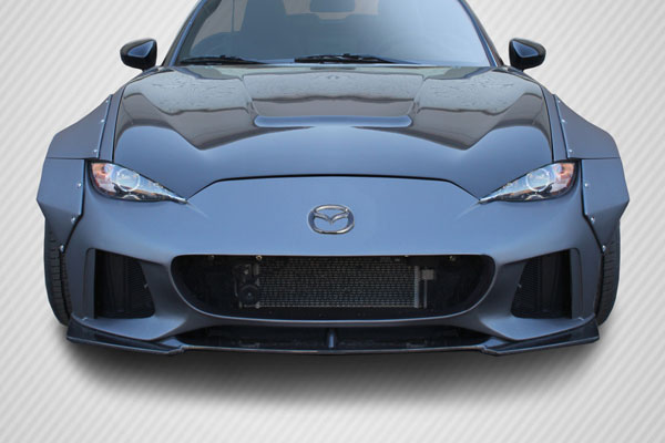 Carbon Creations 113049 | Mazda Miata Carbon Creations Circuit Front Lip 1-Piece; 2016-2017