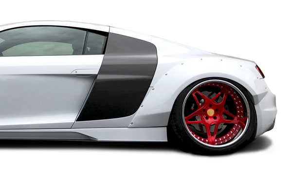 Aero Function 113068 |  Audi R8 AF Signature Series Rear Fender Flares ( GFK ) 4-Piece; 2008-2015