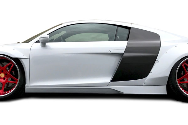 Aero Function (113069)  2008-2015 Audi R8 AF Signature Series Side Skirts ( GFK ) - 2 Piece