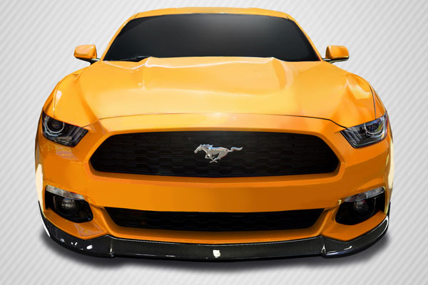 Carbon Creations 113091 | Ford Mustang Carbon Creations CVX Front Lip Spoiler 1-Piece; 2015-2016
