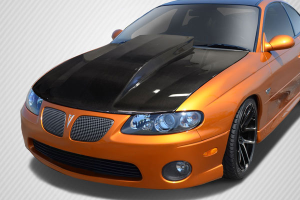 Carbon Creations 113104 | Pontiac GTO Carbon Creations Cowl Hood 1-Piece; 2004-2006