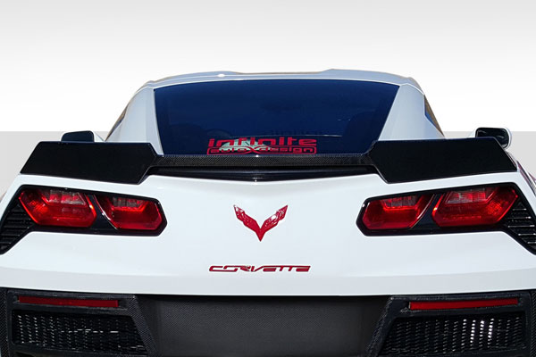 Carbon Creations 113157 | Chevrolet Corvette C7 Carbon Creations DriTech Gran Veloce Wing- 1-Piece; 2014-2016
