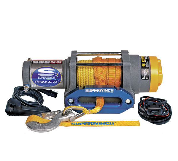 Superwinch 1145230 | 4500 LBS 12 VDC 1/4in x 55ft Synthetic Rope Terra 45SR Winch
