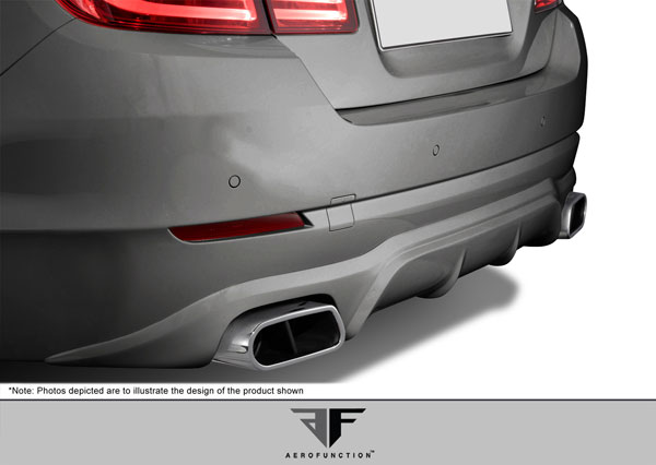 Aero Function 107936: 2011-2013 BMW 5 Series F10 AF-1 Rear Add-On Spoiler ( PUR-RIM ) - 1 Piece
