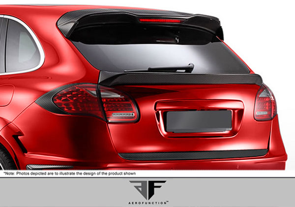 Aero Function 107920: 2011-2014 Porsche Cayenne Carbon AF-1 Taillamp Covers ( CFP ) - 2 Piece