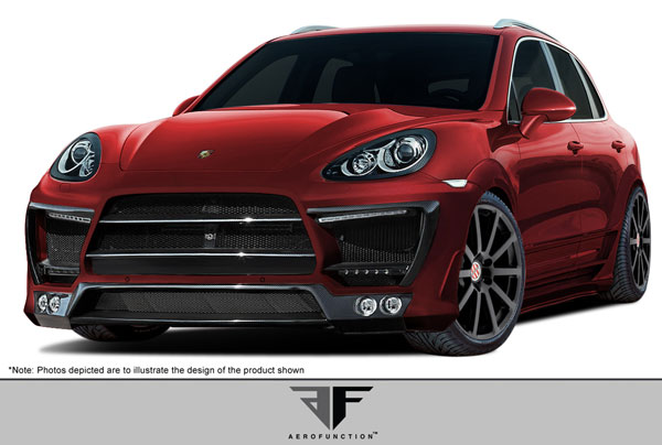 Aero Function (107939)  2011-2014 Porsche Cayenne AF-1 Wide Body Kit ( PUR-RIM GFK CFP ) - 39 Piece