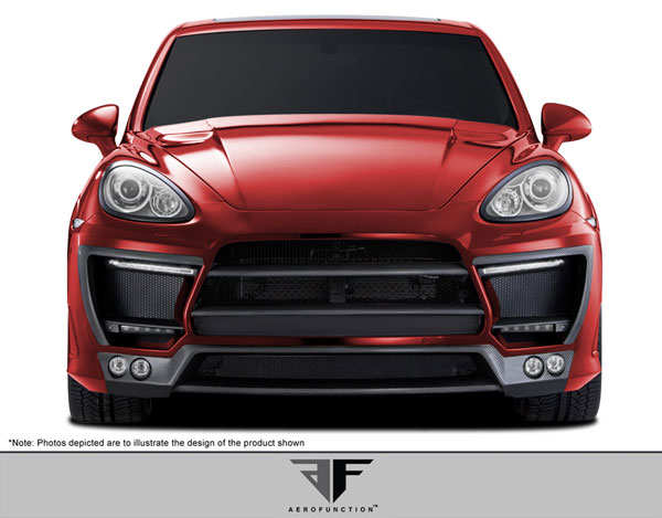 Aero Function 107909: 2011-2014 Porsche Cayenne AF-1 Wide Body Front Bumper Cover ( GFK ) - 9 Piece