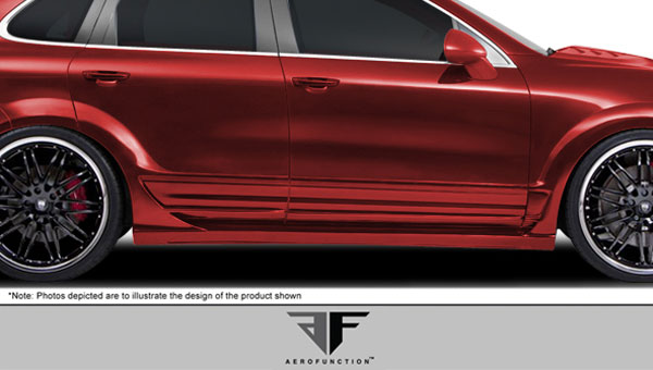 Aero Function 107914: 2011-2014 Porsche Cayenne AF-1 Wide Body Side Skirts ( PUR-RIM ) - 2 Piece