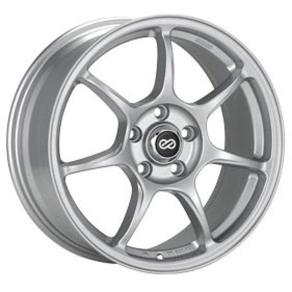 Enkei 468-775-8040sp | Fujin 17 x 7.5 40mm Offset 5x100 Bolt Pattern 72.6 Bore Silver Wheel