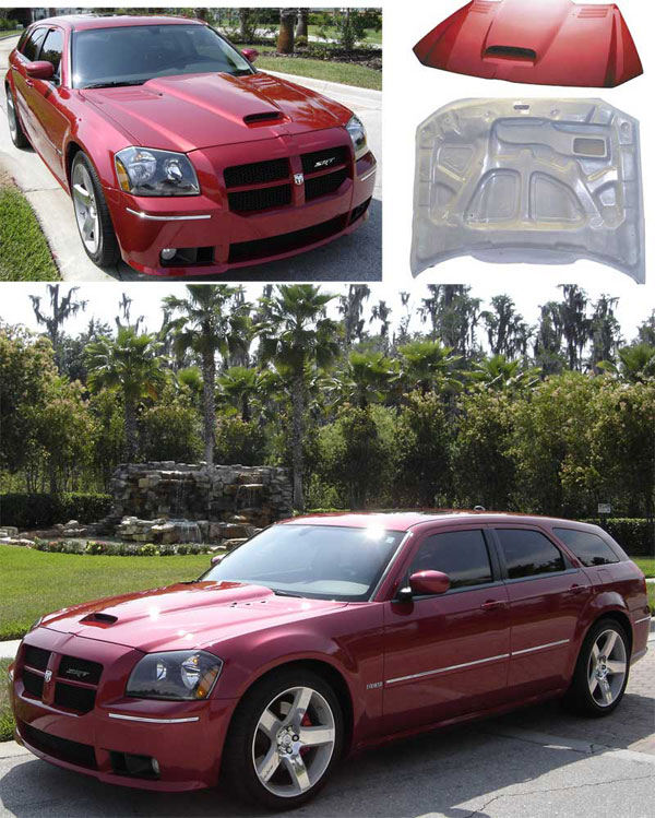 08 Dodge Charger For Sale: RKSport 15011000: 2005-08 Dodge Magnum Viper Hood Only