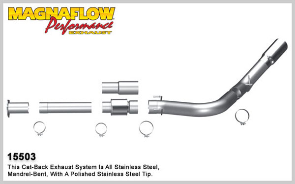 Magnaflow 15503:  Exhaust System for 2011 Ford Diesel 5 inch 6.7L MFP