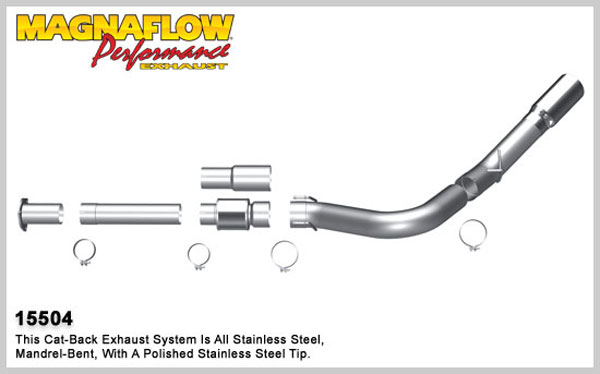 Magnaflow 15504:  Exhaust System for 2011 Ford Diesel 5 inch 6.7L XL