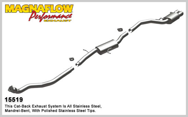 Magnaflow 15519:  Exhaust System for 2009- Audi A4 2.0T Sport