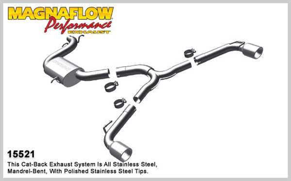 Magnaflow 15521:  Exhaust System for 2010 VW GTI 2.0L Turbo