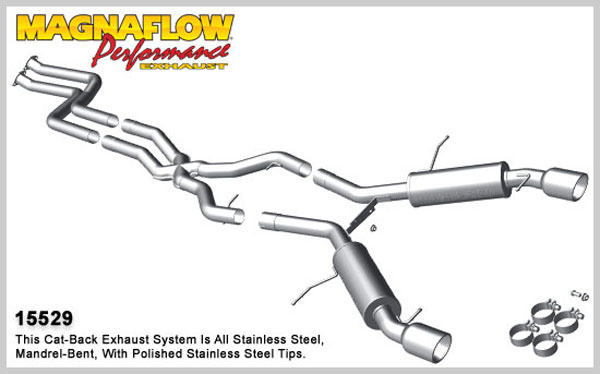 Magnaflow 15529:  Exhaust System for 2011 BMW 335 3.0T Coupe