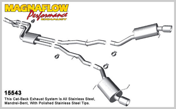 Magnaflow 15543:  Exhaust System for 2011 BMW 535 3.0L T Touring