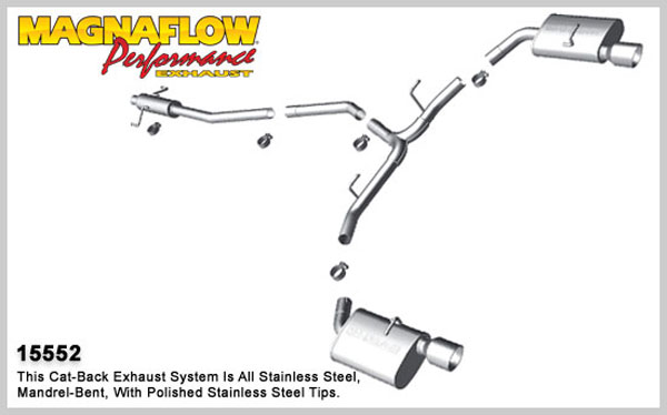 Magnaflow 15552:  Exhaust System for 2010 Ford Fusion 3.0L/3.5L