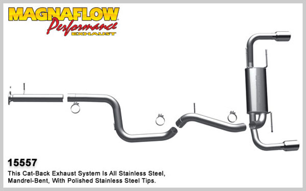 Magnaflow 15557:  Exhaust System for 2010 Mazdaspeed 3 2.3L T