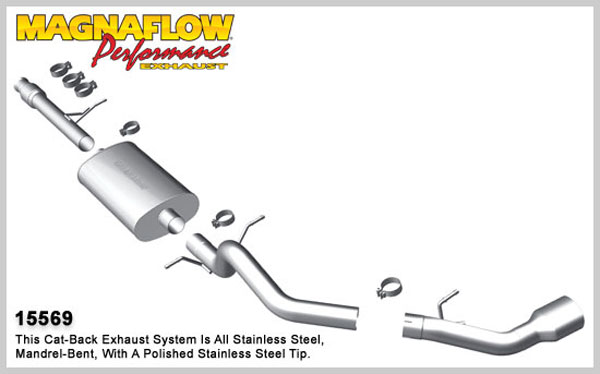 Magnaflow 15569:  Exhaust System for 2010-11 Suburban 1500 GMC Yukon XL 1500