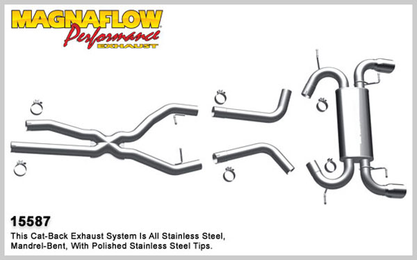 Magnaflow 15587:  Exhaust System for 2007-10 BMW 335 Sedan Touring