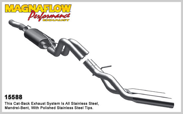 Magnaflow 15588:  Exhaust System for 10-11 Ford F-150 Raptor 6.2L